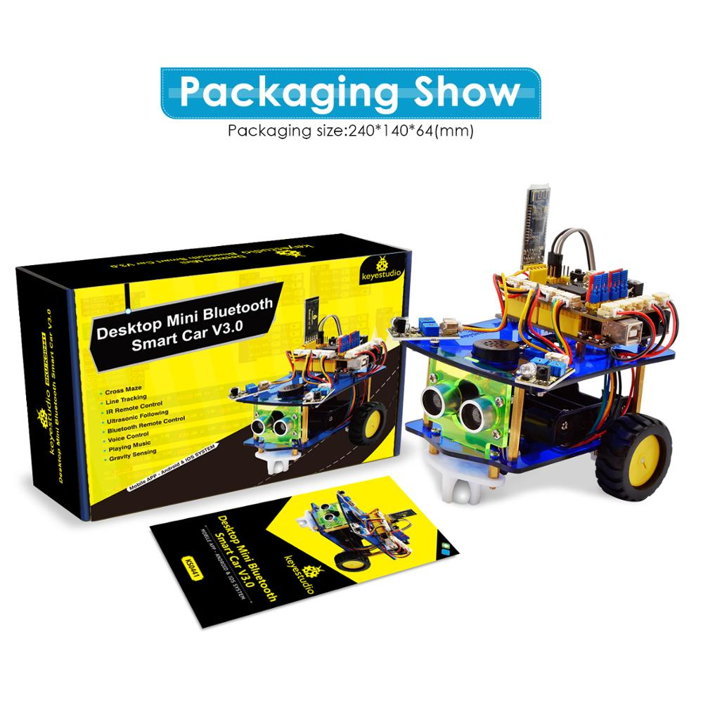 Image 5 - Keyestudio Desktop Mini Bluetooth Smart Robot Car Kit  V3.0 for Arduino Robot STEM/Support Mixly blocks coding-in Integrated Circuits from Electronic Components & Supplies