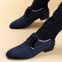 Zapatos de cuero transpirables para hombre, nueva prenda, traje de ocio británico, zapatos de lona, B3-74, 2021