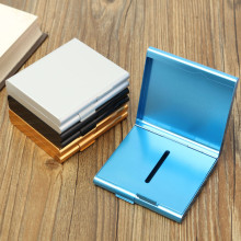 Aluminum Cigarette Case Storage for 20 Cigarettes Holder Double Sided Flip Open Pocket Container Gift