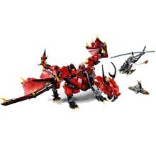 цена на 2020 Ninjagoin Movies Firstbourne Dragon Compatible Lepining Ninjagoes70653 Building Blocks Figure Bricks Toys for Children Gift