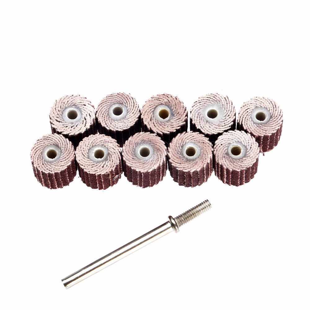 10Pcs 240-Grit 10 X 10x 3mm Sanding Flap Disc Grinding Flap Wheels Brush Sand Rotary Tool Dremel Accessories Accesorios Dremel