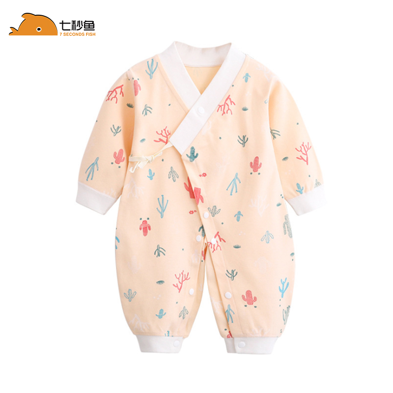 Newborn Infant Baby Boy Girl Cotton Romper Jumpsuit Boys Girl Angel Wings Long Sleeve Rompers Soft Spring Autumn Clothes Outfit