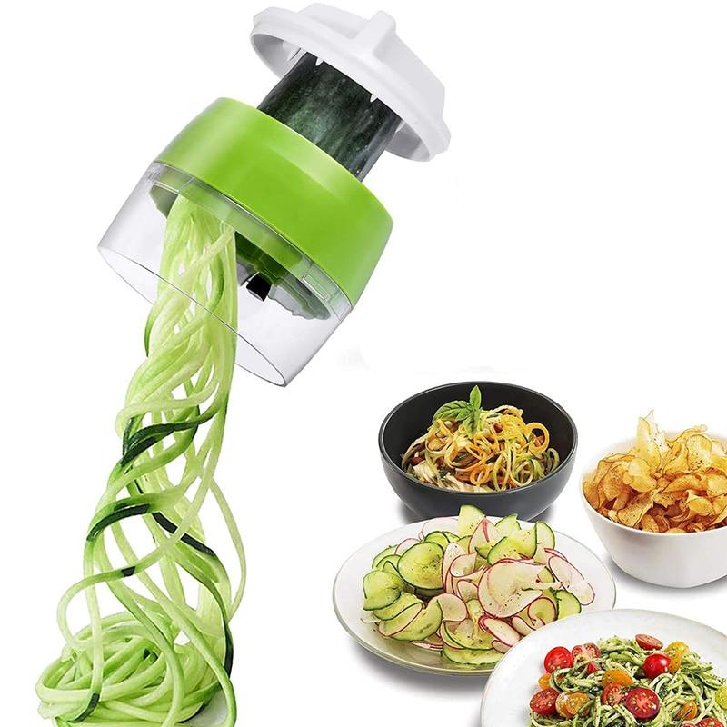 Handheld Spiralizer Vegetable Fruit Slicer Adjustable Spiral Grater Cutter Salad Tools Zucchini Noodle Maker Kitchen Accessories