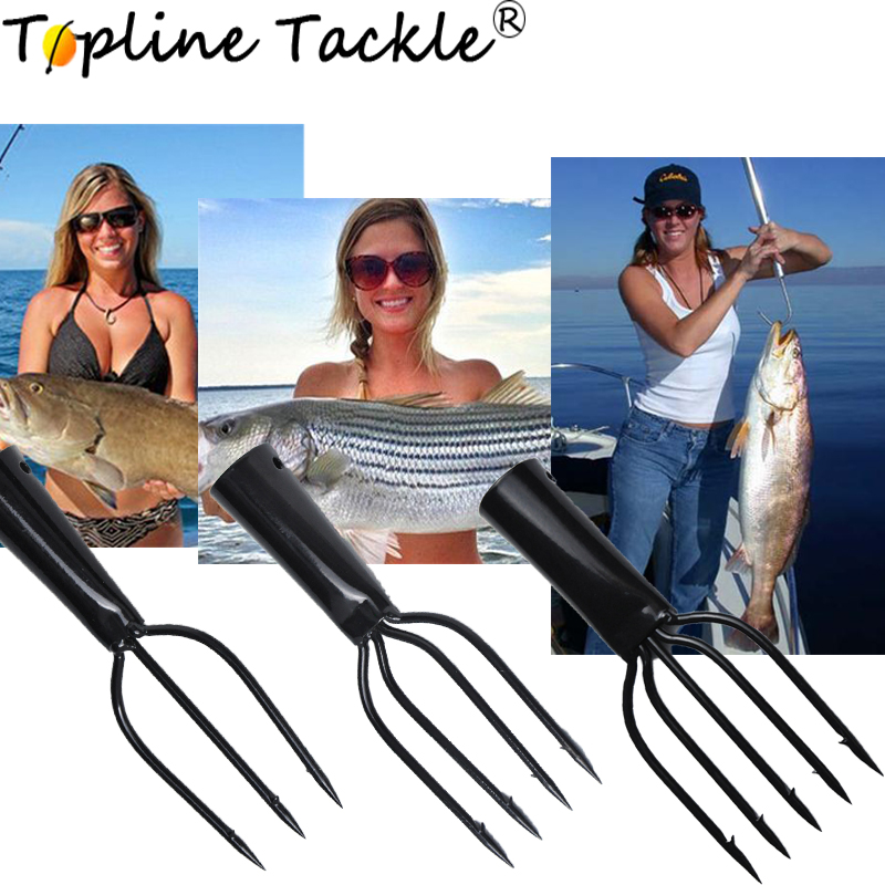 Topline Tackle Carbon Steel Spearfishing Spears Harpon Diving Spear Fishing Gun Harpon Head With 3/4/5 Sharp Barbs Fishing Tools
