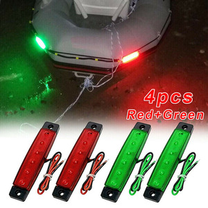 High Quality Red+Green Navigation 6LED Lights Stern Boat Starboard Lamp Set DC12V Waterproof Low Power Consumption