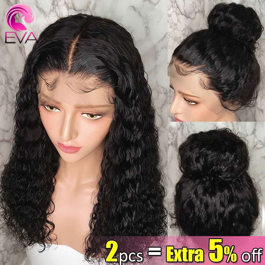 Eva Hair Curly 150% 13x6 Lace Front Human Hair Wigs Pre Plucked With Baby Hair Brazilian Remy Human Hair Wigs For Black Women