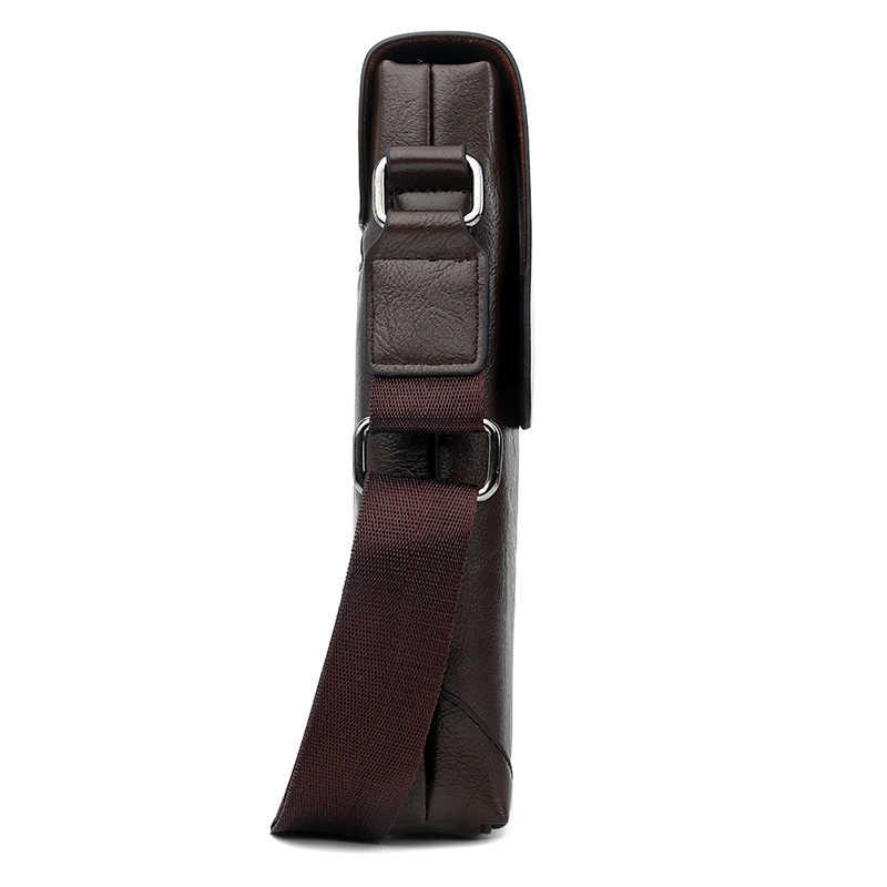 Vicuna Polo Vintage Panelled Mannen Messenger Bag Persoonlijkheid Contrast Kleur Crossbody Schoudertas Voor Man Business Man Handtas