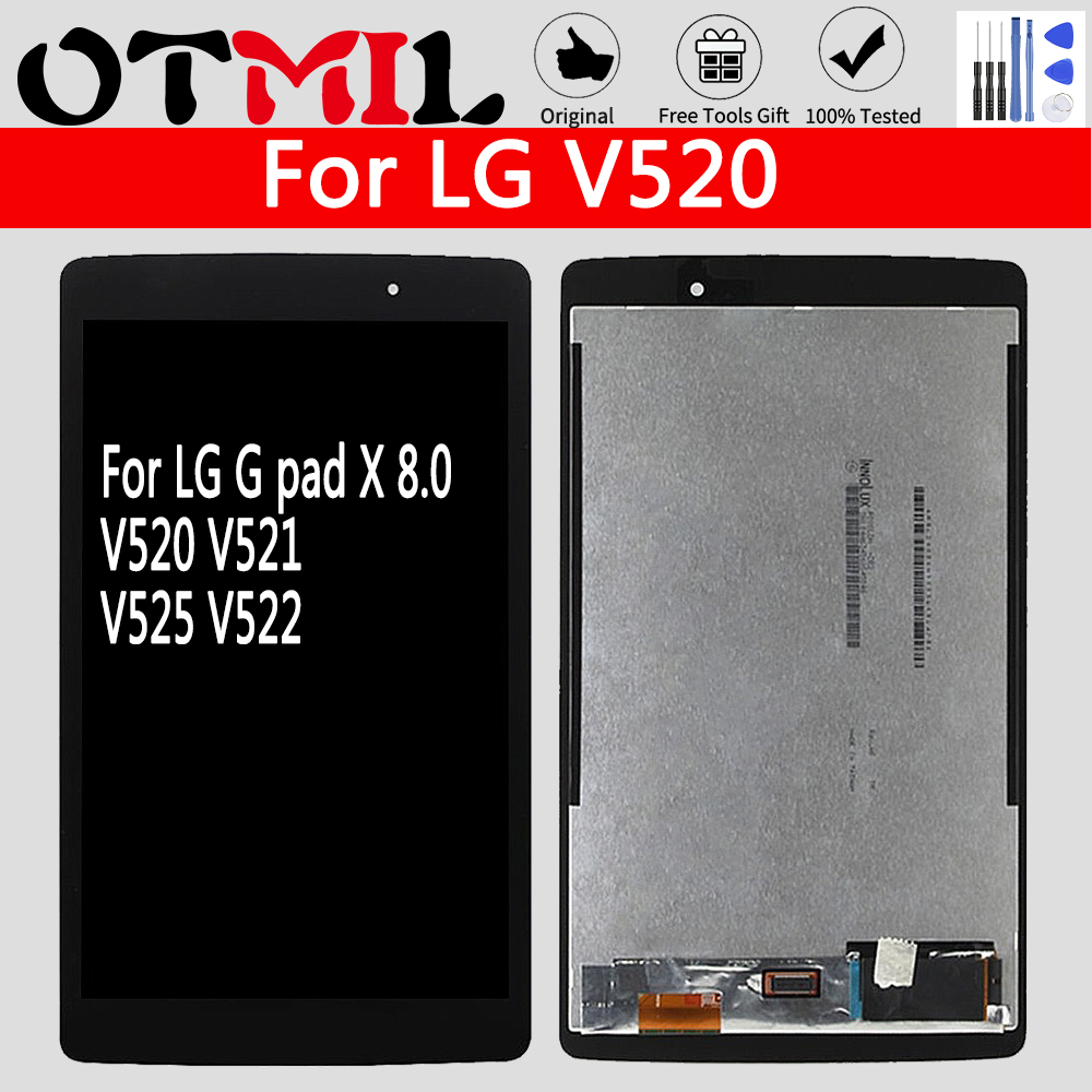 "White LCD Display Touch Screen Digitizer Assembly For LG G Pad 8/"" V520 V521 V525"