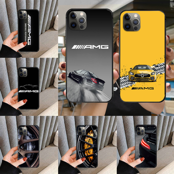 Mercedes AMG Luxury Benz Car Phone Case cover For iphone 5 5S 6 6S PLUS 7 8 11 12 mini X XR XS PRO SE 2020 MAX black cover image