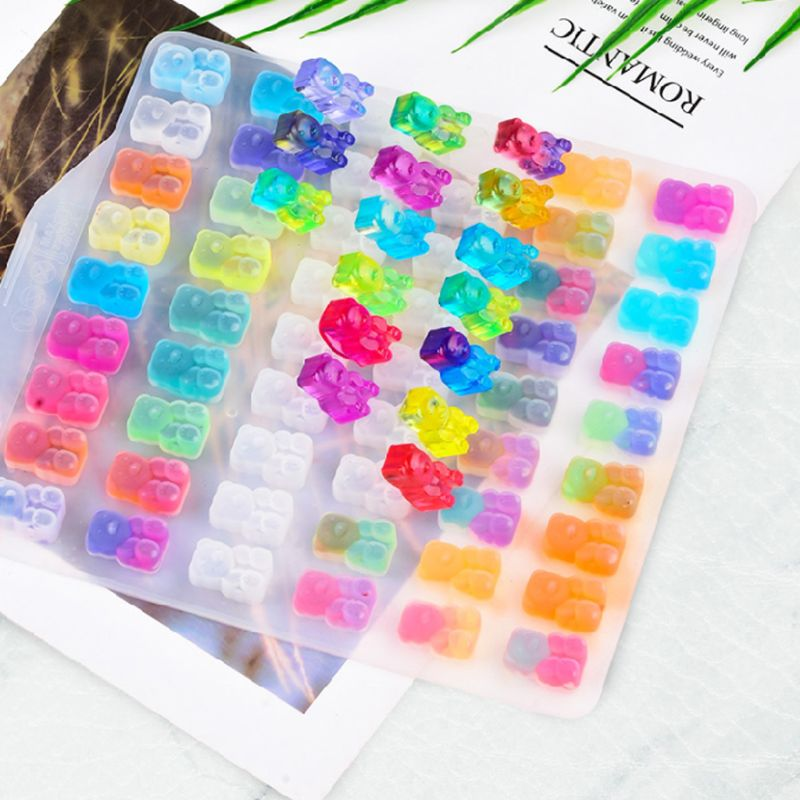 DIY Assorted Silicone Bears Mold For Epoxy Resin Jewelry Making Crafts Tool For Earrings Necklace Keychain Pendants