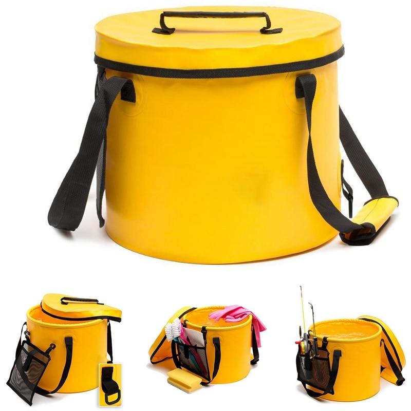 Beautiful Portable Multifunctional Basin Collapsible Basin Outdoor Wash Basin Bucket Camping Hiking Fishing Trip Accessories