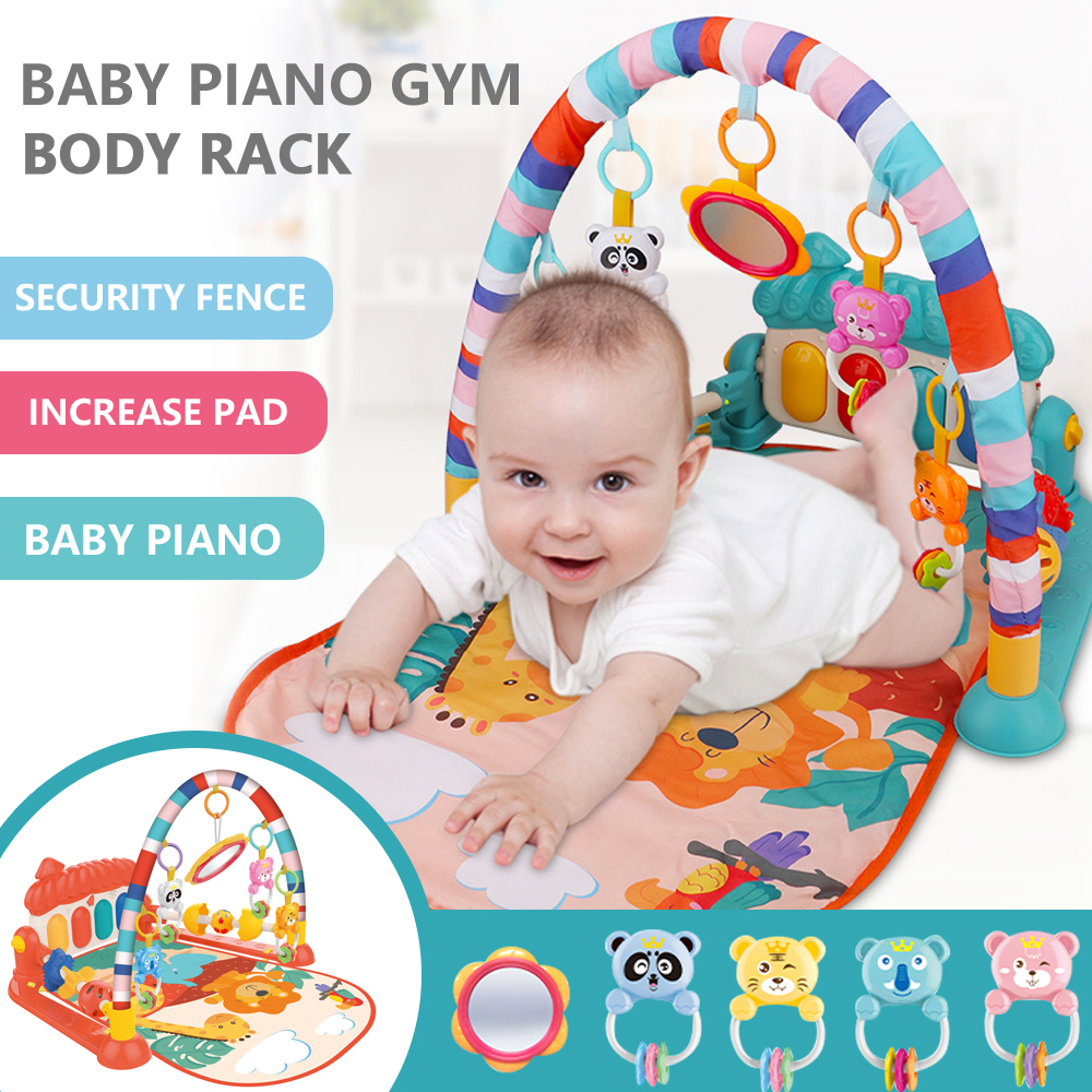 Baby Play Mat Kids Rug Educational Puzzle Tapis Carpet With Piano Cute Animal Playmat Baby Crawling Activity Gym Toys   Happy Baby Mama