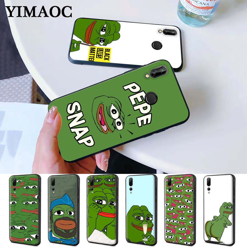 the Frog meme pepe Colorful Cute Silicone Case for Huawei P8 Lite 2015 2017 P9 2016 Mimi P10 P20 P30 Pro P Smart Z 2019 Plus image
