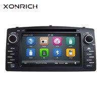 Xonrich 2 Din Car Radio DVD Player For Toyota Corolla E120 BYD F3 2000 2005 2006 Multimedia GPS Head Unit Stereo NavigationAudio