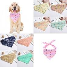Karikatür yıldız baskılı evcil köpek Bandana ayarlanabilir küçük köpek kedi eşarp moda ilmek bakım köpek yaz Pet köpek aksesuarları