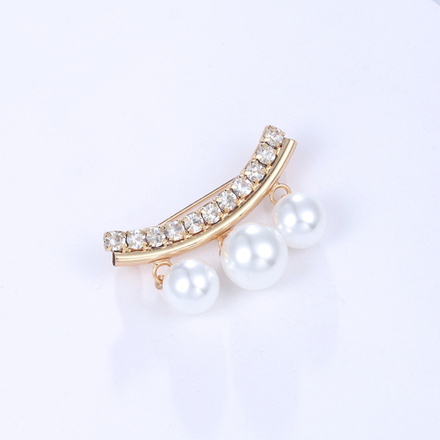 JUJIE Korean Style Shirt Coat Lady Brooch Corsage Pin Imitation Pearls Pendant Brooches For Women Jewelry Accessories Wholesale