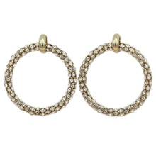 Qingdao jewelry extremely shining Earrings Fashion allergy-proof copper ring earrings wholesale new manufacturers