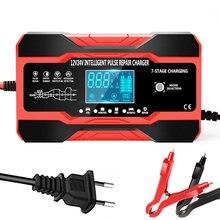 Chargeur de batterie de voiture entièrement automatique, 12V, 10a, 24V, 5a, intelligent, rapide, pour batterie au plomb, pour GEL AGM, humide, avec écran LCD