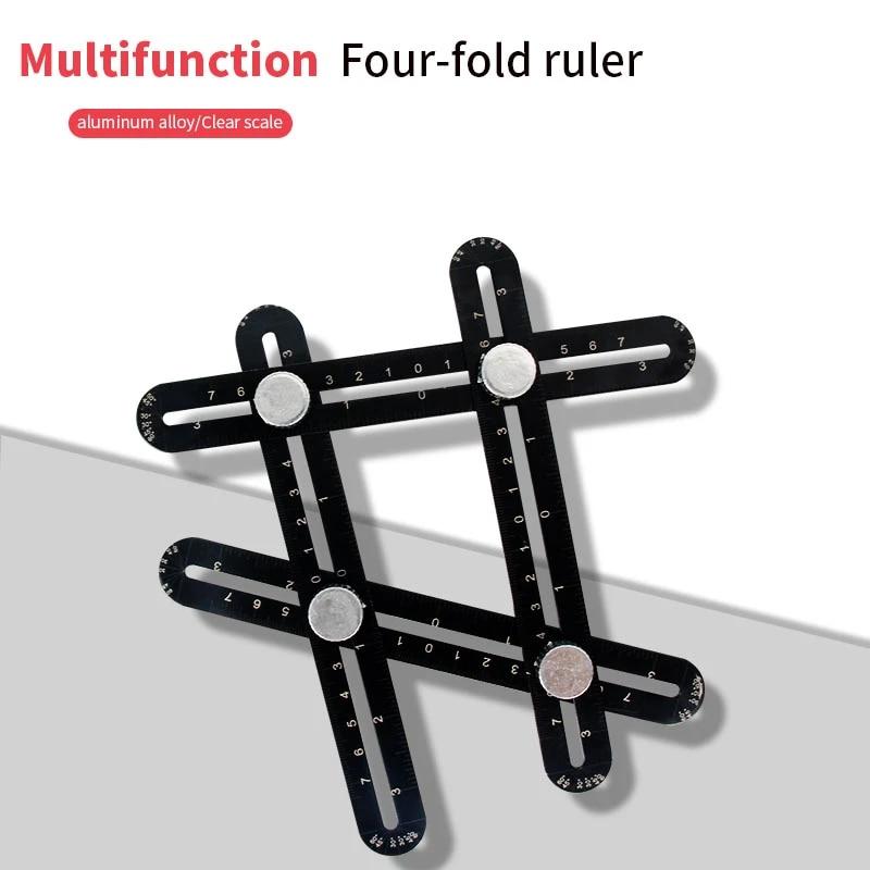 new multifunctional six fold rule ceramic tile bathroom shower positioning ruler three fold rule tile drilling four fold rule