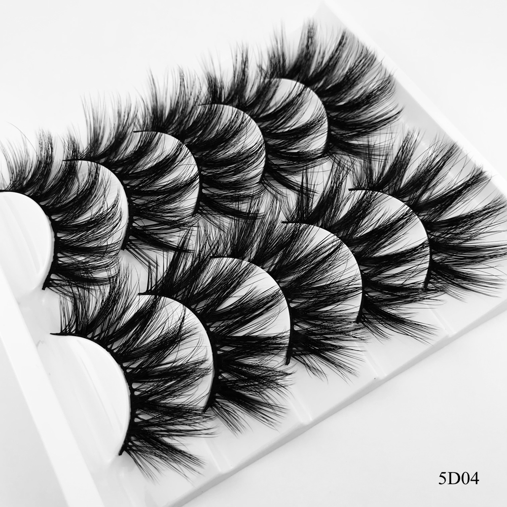 3D Mink Hair 5 Pairs Hot False Eyelashes Wispy Full Volume Natural Lashes Feathery Flared Variety Pack Lashes Handmade
