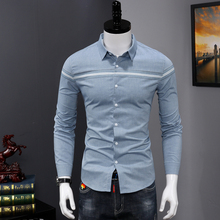 Pure Cotton Mens Business Casual Long Sleeved Men