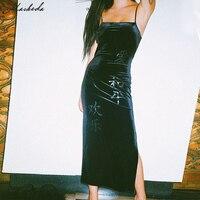 Macheda осеннее женское модное китайское платье на бретельках с принтом с героями мультфильмов женское тонкое платье с разрезом в бедрах винта...