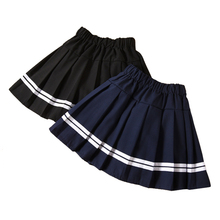 striped pleated skirts age for 4 - 16 years teenage girl back to school clothes