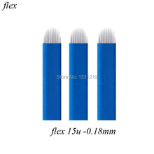 0.18mm 15 U Shape Laminas Tebori Flex Microblading shape Tattoo needles for Brow
