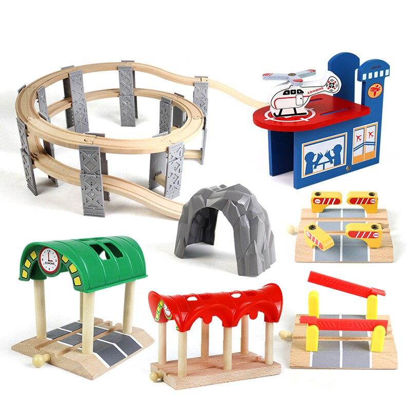 Деревянная игрушечная железная дорога Запчасти совместим с Томасом Biro все бренды деревянный магнитный аксессуары для поезда бука игрушкам...