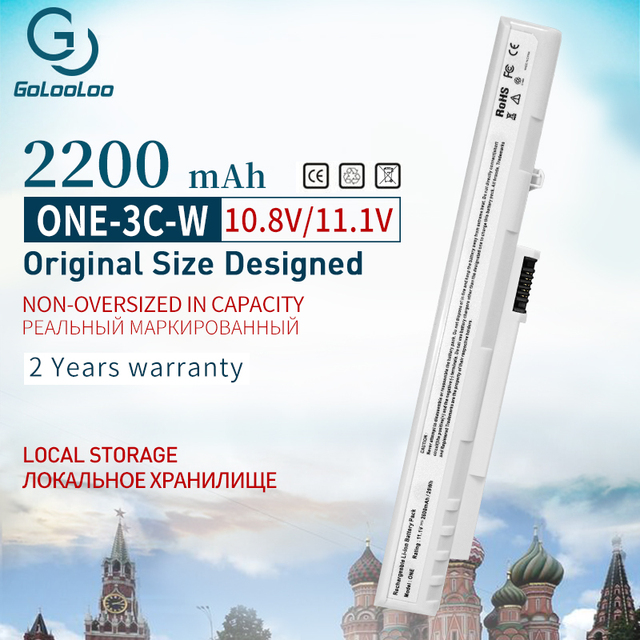 11.1v 2200 mAh סוללה למחשב נייד עבור Acer Aspire אחד פרו 531h ZG5 KAV10 KAV60 A110 A150 D150 D250 p531h AoA110 AoA150 AOD150 לבן