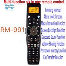 Controle remoto universal RM 991, 6 redes aprendizado em 1 código para tv chunghop/sat/dvd/cbl/cd/ac/vcr