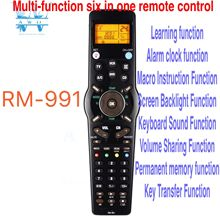 New Universal Remote Control RM 991 Learning 6 Nets in 1 Code For Chunghop TV/SAT/DVD/CBL/CD/AC/VCR