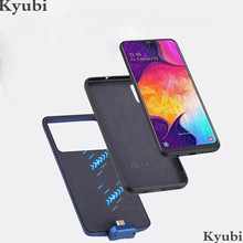 7000mah wireless charger case for Samsung Galaxy A50 external portable hybrid battery charging cover for Samsung Galaxy A50