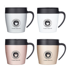 Hot sale 330ml Stainless steel handle coffee mug thermos flask family dance party beer cup double layer milk tea vacuum cups