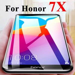 Защитное стекло для huawei honor 7x, защита экрана x7 7 x, закаленное стекло honor7x, защитная пленка huawey