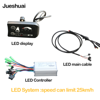 Limit Speed 25km/h Ebike Controller LED Display For Electric Bike Electric Scooter Controller Brushless Motor Electric Bicycle