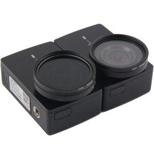 Image 5 - UV CPL Lens filtre + koruyucu alüminyum çerçeve kılıf + Lens kapağı için Xiaomi Yi 4K Lite eylem kamera Lens aksesuarları yüksek kalite