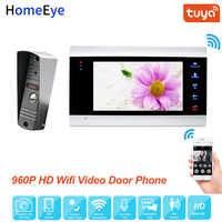 HomeEye WiFi IP Video Tür Telefon Video Intercom System 960P Tuya Smart Leben App Remote Entsperren Motion Erkennung Zugang control