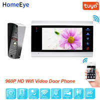 HomeEye WiFi IP Video puerta teléfono Video intercomunicador sistema 960P Tuya vida inteligente App desbloqueo remoto detección de movimiento Control de acceso