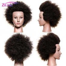 Female Afro mannequin hairdressing training head with 100% real human hair manequin hair doll for black women manican barber wmdoll top quality silicone sex doll head for real human dolls real doll adult oral sex toy for men