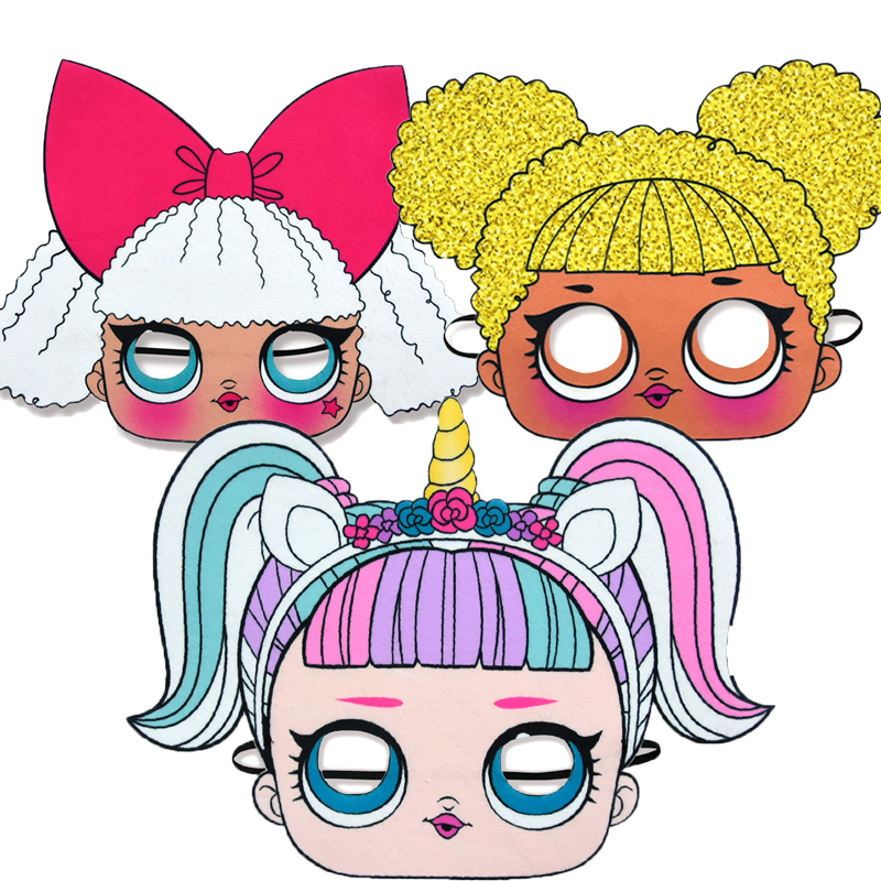 LOL Surprise Dolls Party Masks Different Styles Celebrate Themes Supplies Figures Anime Activities For Kids Birthday Gifts 2C52