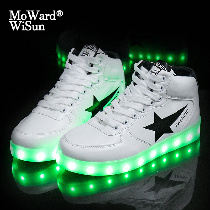 Size 35-44 Men's & Women's Luminous Sneakers With Light Up Sole USB Charging Glowing LED Shoes For Children Sneakers With Lights