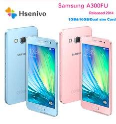 Разблокированный оригинальный Samsung Galaxy A3 A3000 A300F четырехъядерный Android 4,5 дюйм8 ГБ/16 Гб ROM 1 Гб RAM 4G 8.0MP камера мобильный телефон