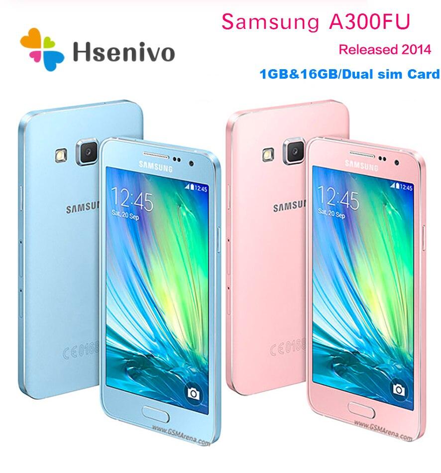 Unlocked Original Samsung Galaxy A3 A3000 A300F Quad Core Android 4.5″ 8GB/16GB ROM 1GB RAM 4G 8.0MP Camera Mobile Cell Phone