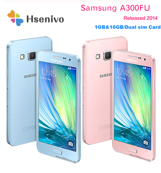 "Unlocked Original Samsung Galaxy A3 A3000 A300F Quad Core Android 4.5"" 8GB/16GB ROM 1GB RAM 4G 8.0MP Camera Mobile Cell Phone"