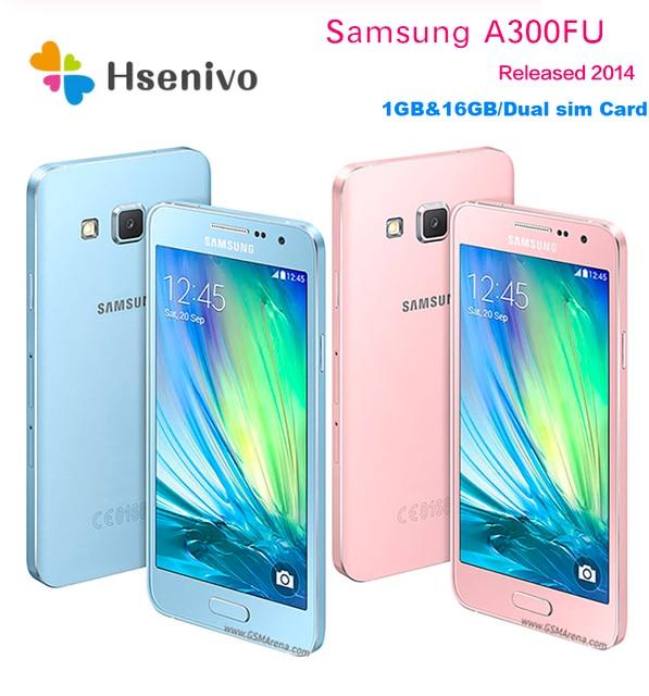 "Unlocked Original Samsung Galaxy A3 A3000 A300F Quad Core Android 4.5"" 8GB/16GB ROM 1GB RAM 4G 8.0MP Camera Mobile Cell Phone"