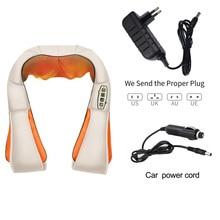 U vorm Massager Elektrische Shiatsu Terug Schouder Hals Massager Multifunctionele Sjaal Infrarood Verwarmde Kneden Auto/Home Massage