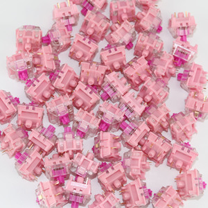 Image 3 - Gazzew Boba gum pink silent Linear Bobagum RGB for Mechanical keyboard custom switch 5pin  52g 62g  68g bottom