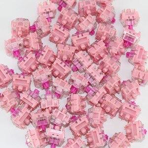 Image 3 - Gazzew Teclado mecánico Boba gum pink, silencioso, lineal, RGB, interruptor personalizado de 5 pines, 52g, 62g, 68g, fondo