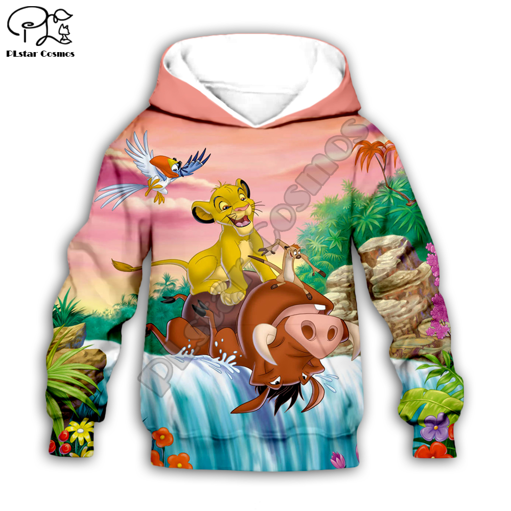 Kid Children Set The Lion King 3D Simba Pumbaa Print Hoodies Sweatshirts Cartoon Pants Baby Boy Girl HAKUNA MATATA Coat
